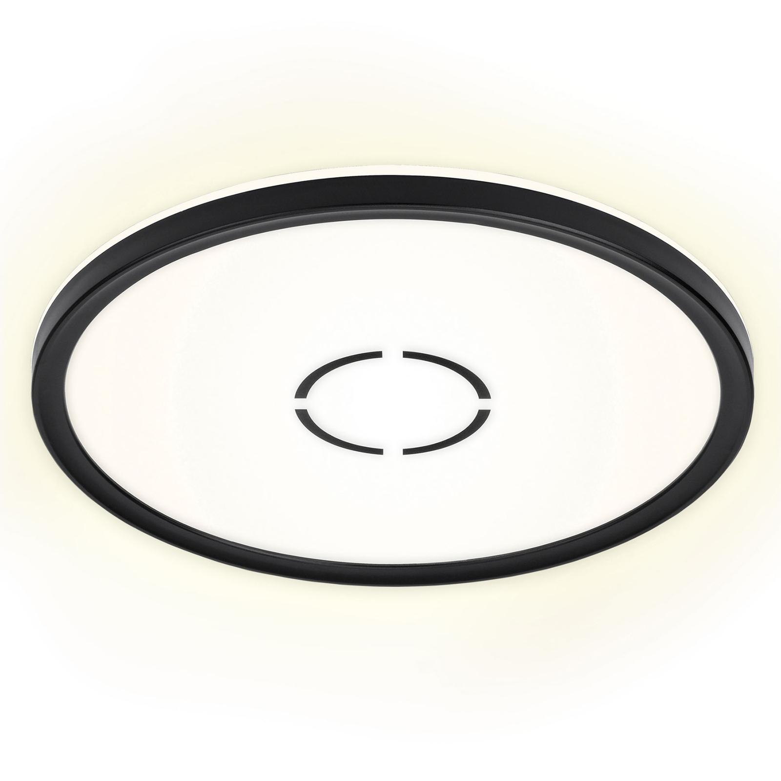 LED-Deckenleuchte Free, Ø 29 cm, schwarz