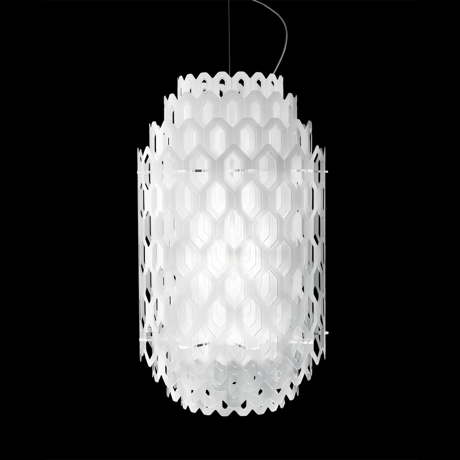 Biała designerska lampa wisząca LED CHANTAL