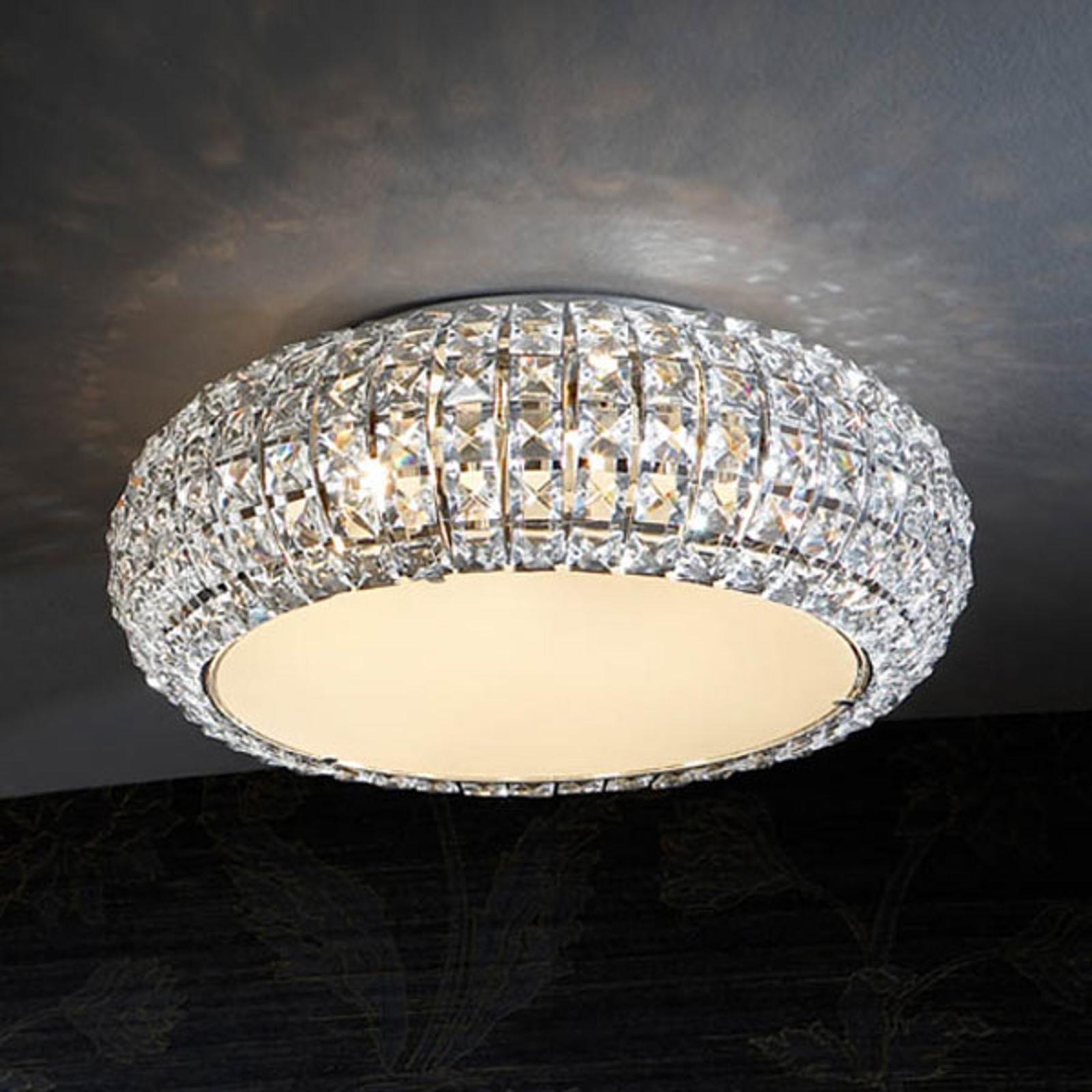 Mieniąca się lampa sufitowa DIAMOND, okrągła 40 cm