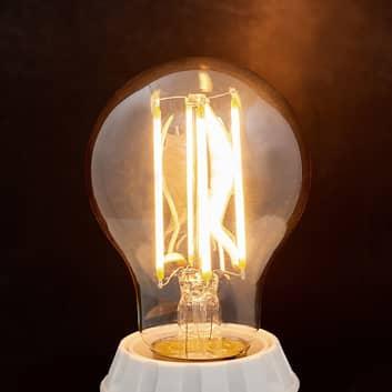 E27 LED-pære filament 6W, 500 lm, 2700K, rav