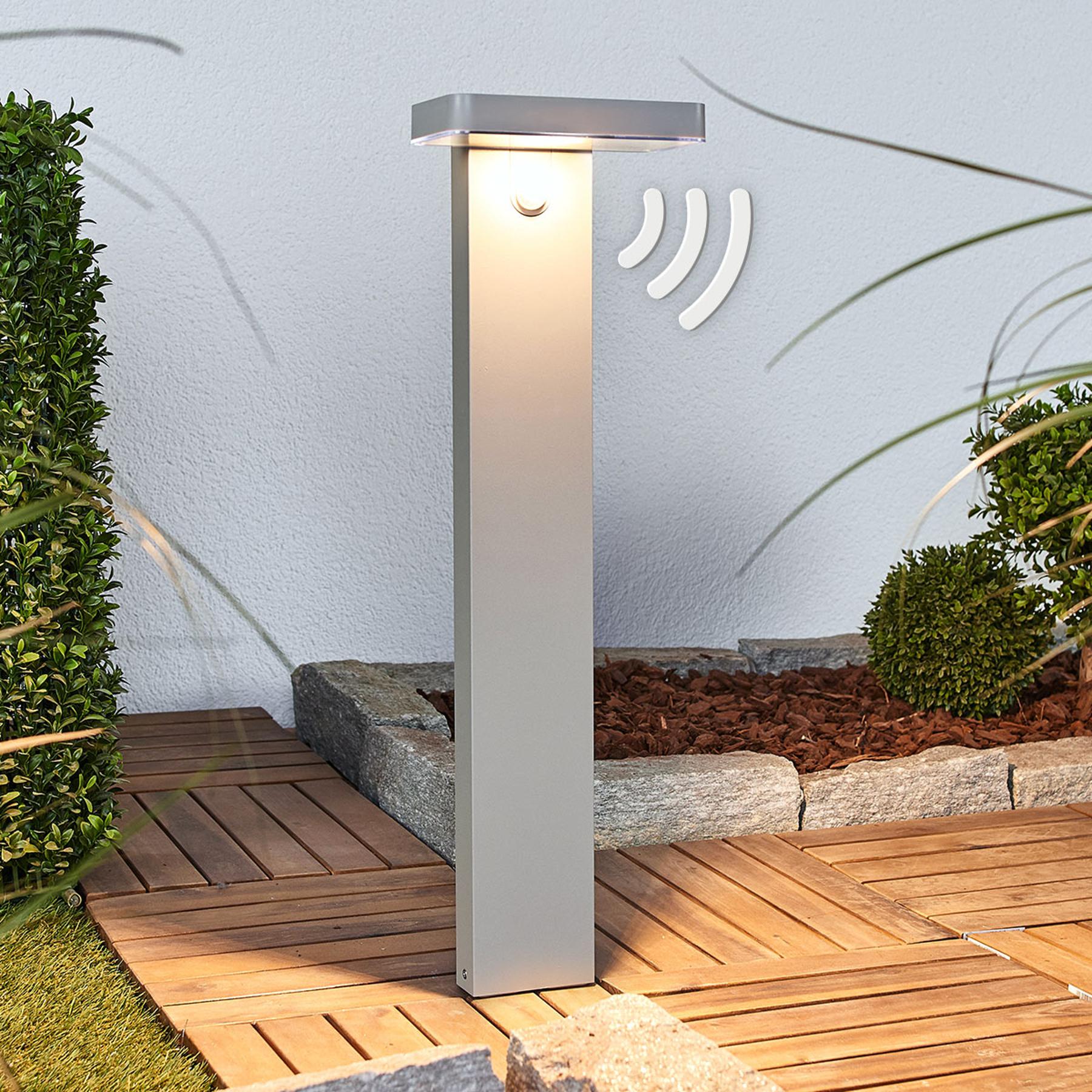 LED-Sockelleuchte Maik mit Sensor, Solarbetrieb