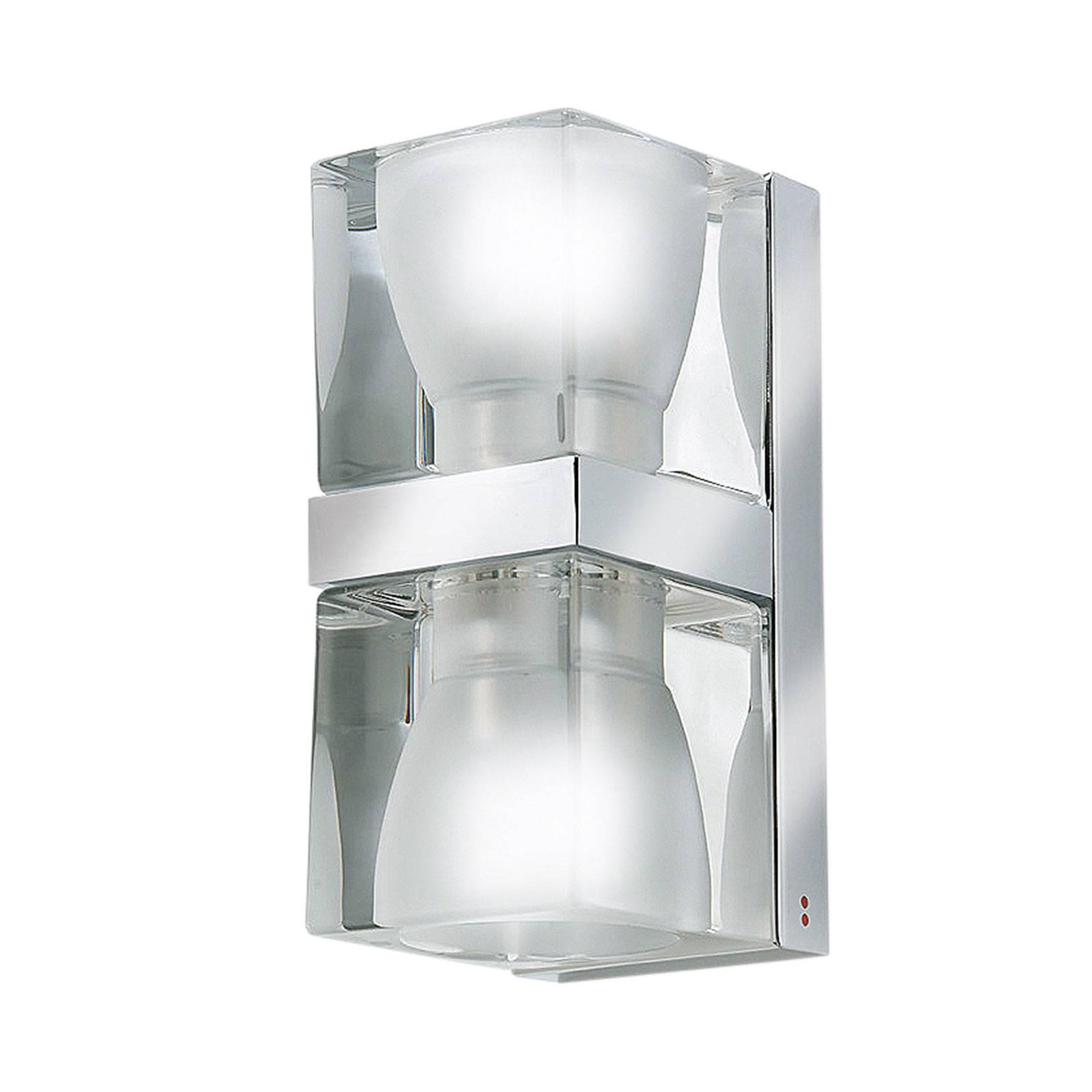 Fabbian Cubetto wandlamp Up/Down, G9, helder