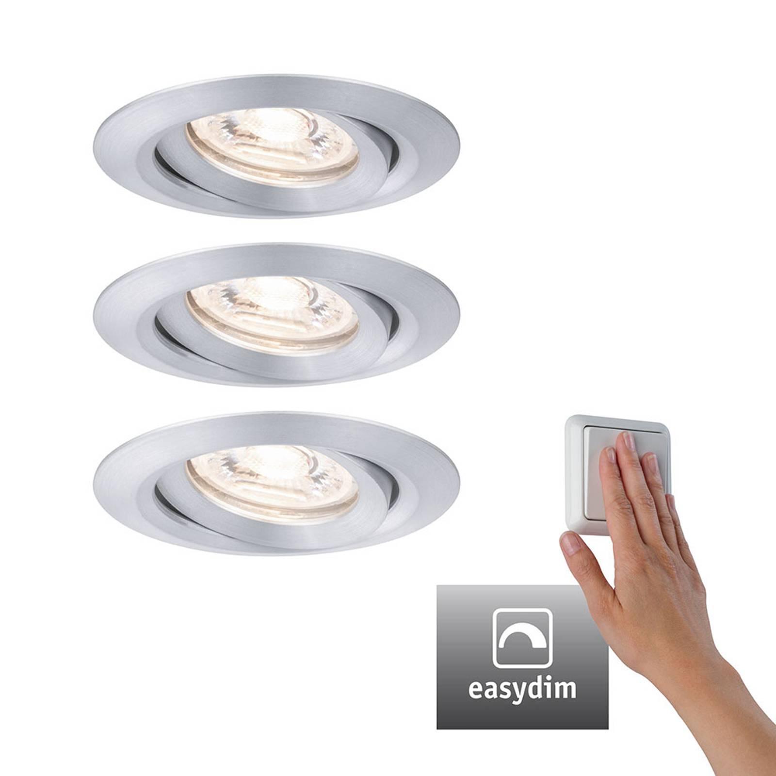 Paulmann Nova mini Plus LED EasyDim 3x alluminio