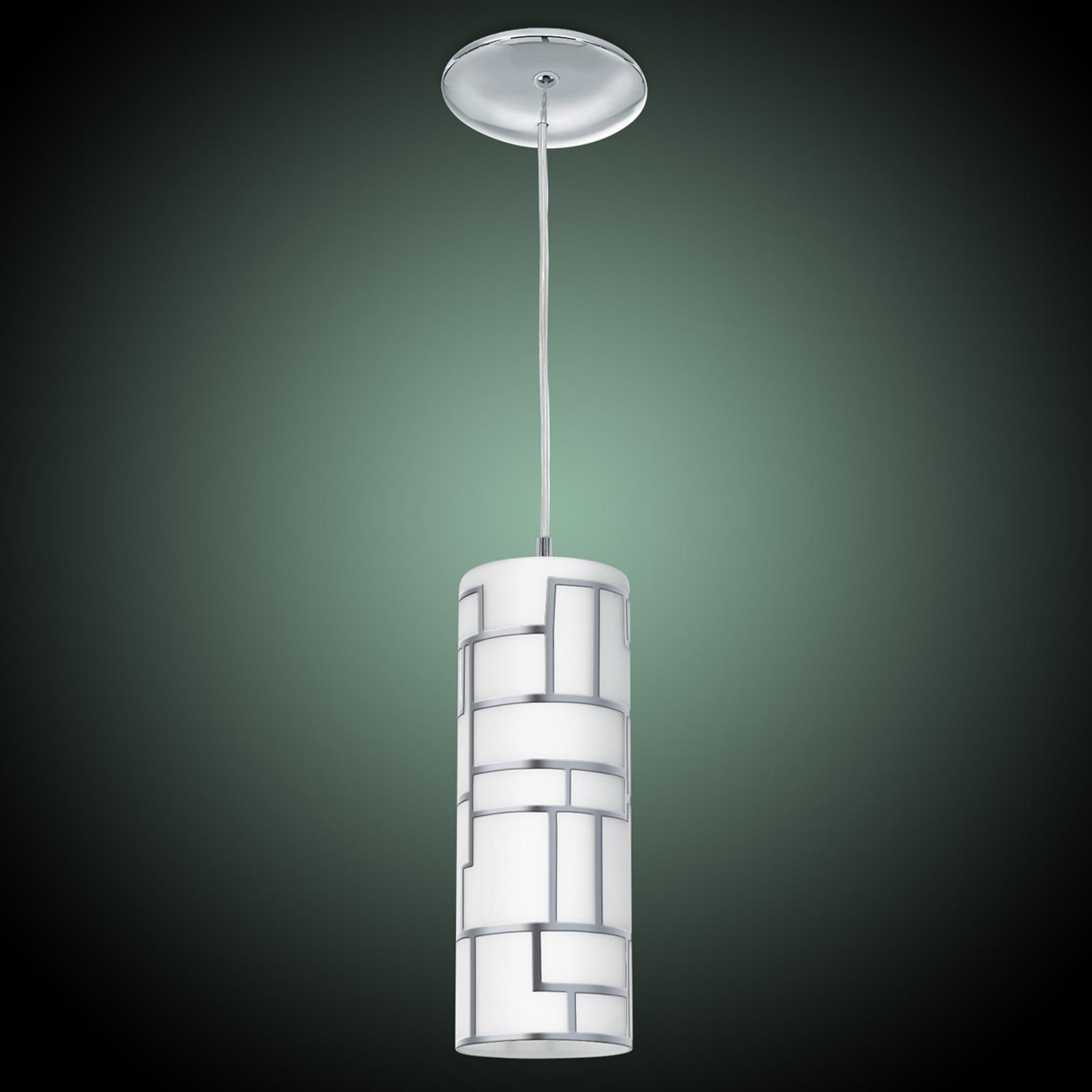 Lampada sottile a pendolo Bayman c. decoro lineare