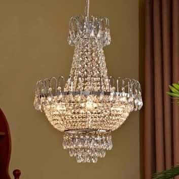 Casparia - lampadario di cristallo cromo lucido