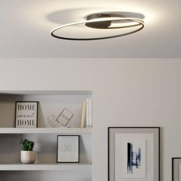 Lindby Xenias lampa sufitowa LED, czarna