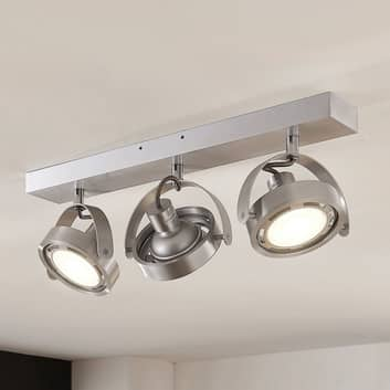 Munin LED-spot, dimbare, alu, 3 lyskilder