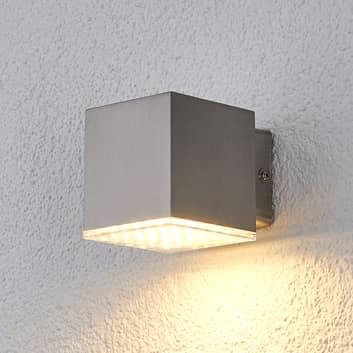 Kompakt LED-utevegglys Lydia i rustfritt stål