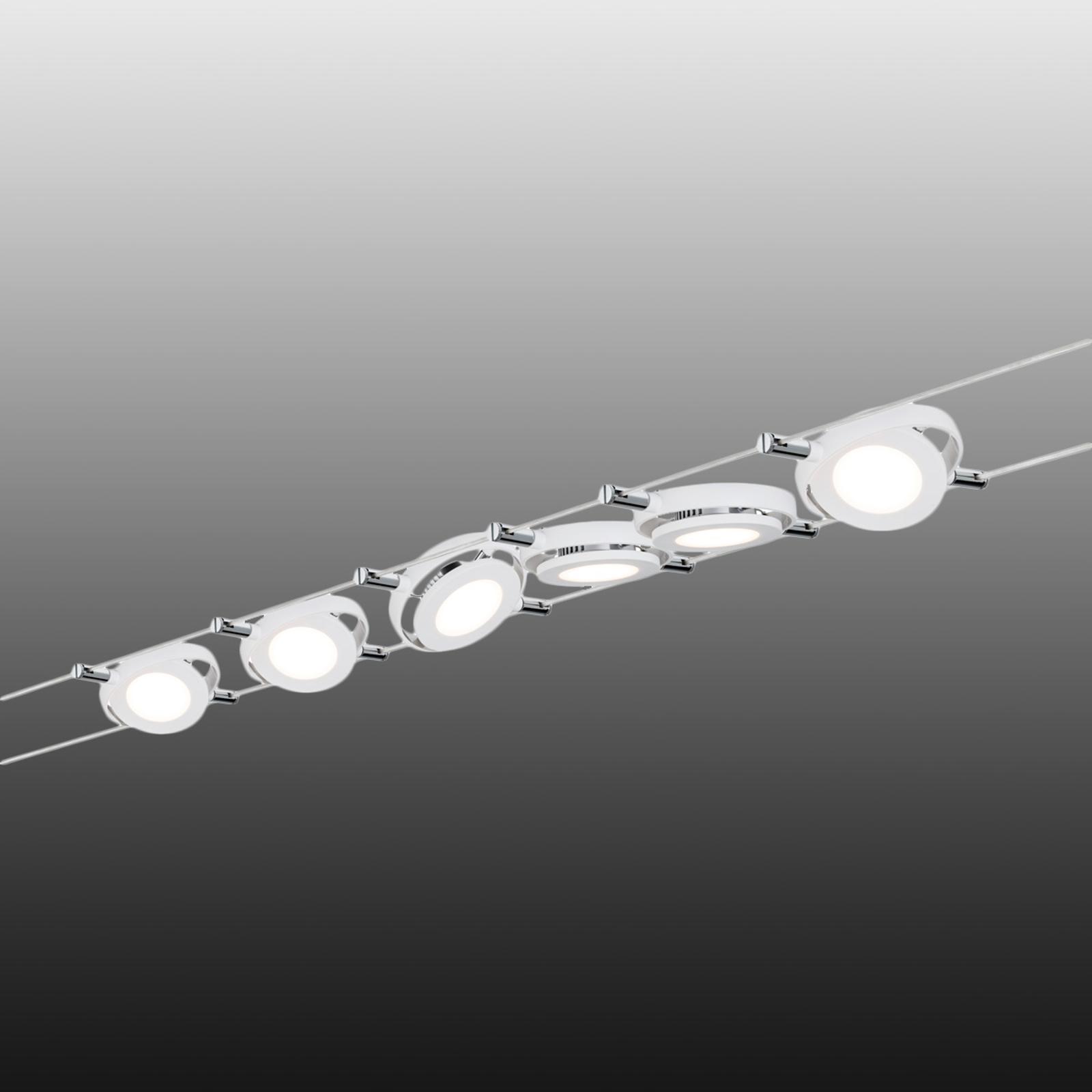 Sistema funi MacRound - 6 lampade