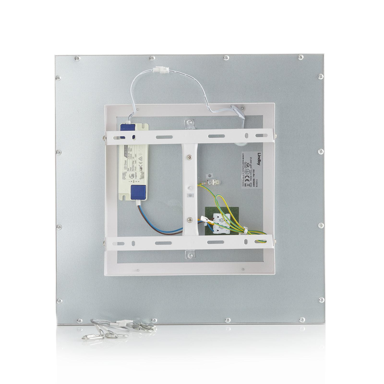 Lindby Livel LED panel, 4 000 K, 40 x 40 cm | Lamp24.se
