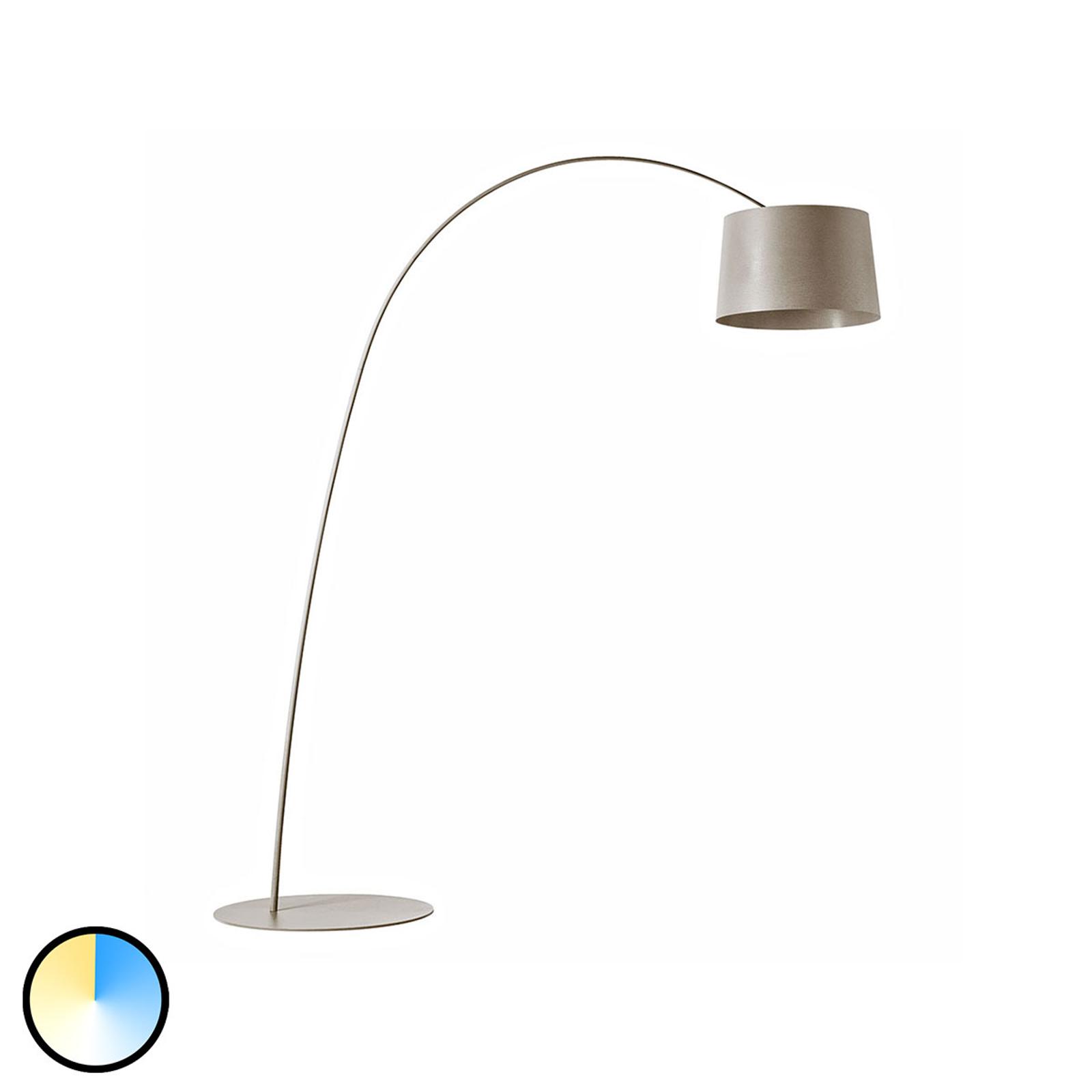 Foscarini MyLight Twiggy LED-båglampa, greige