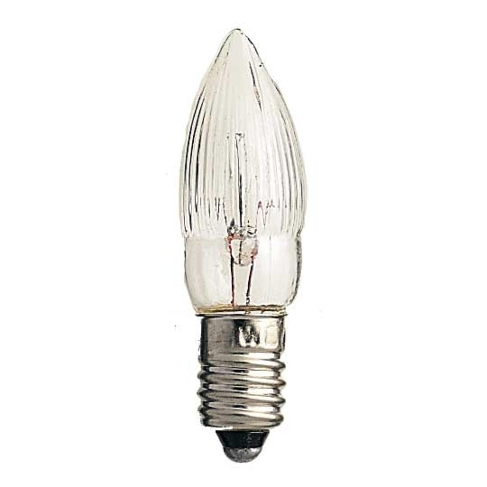 E10 ljuslampor 3W 12V 3-pack