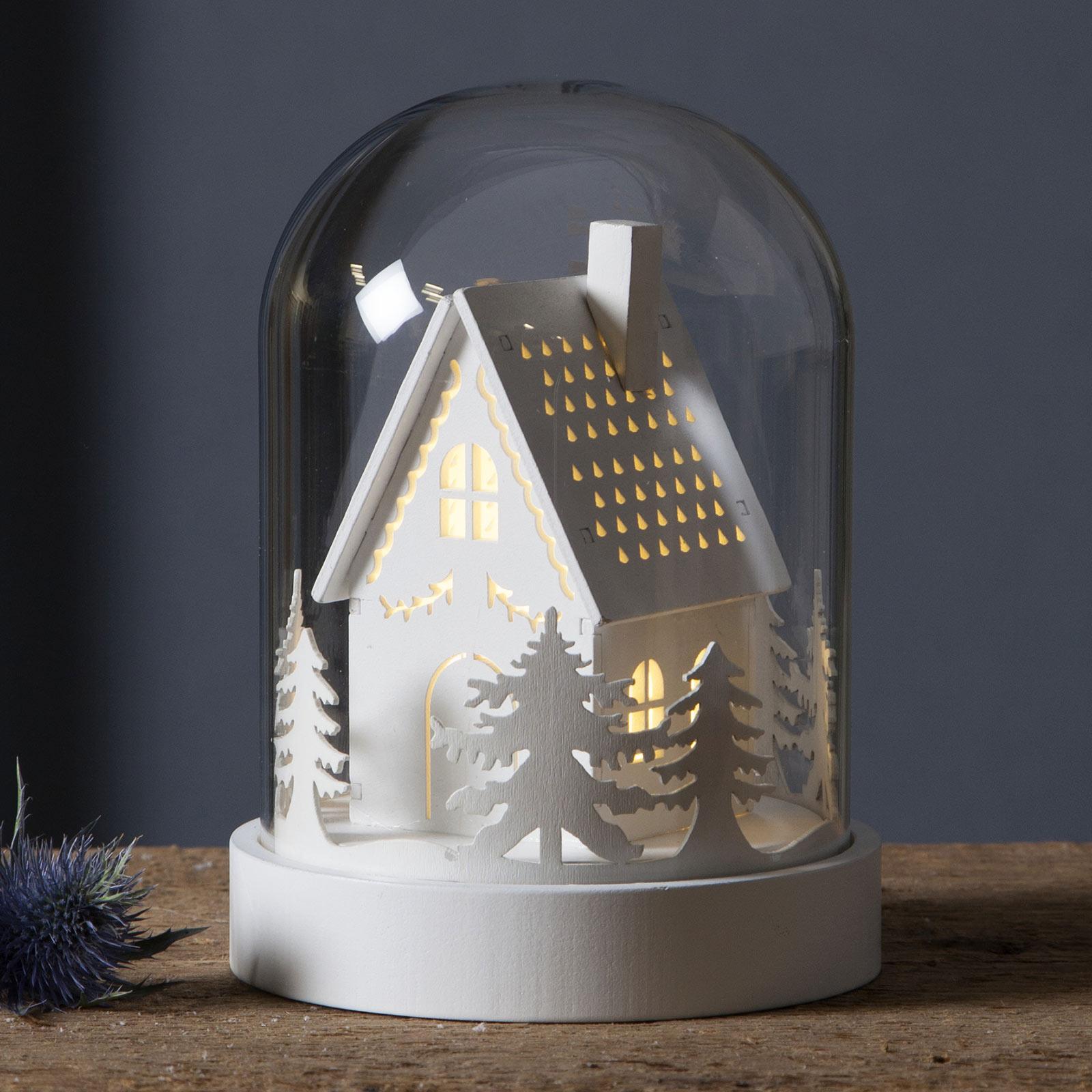 LED-dekorasjonsbelysning Kupol skogmotiv, hvit