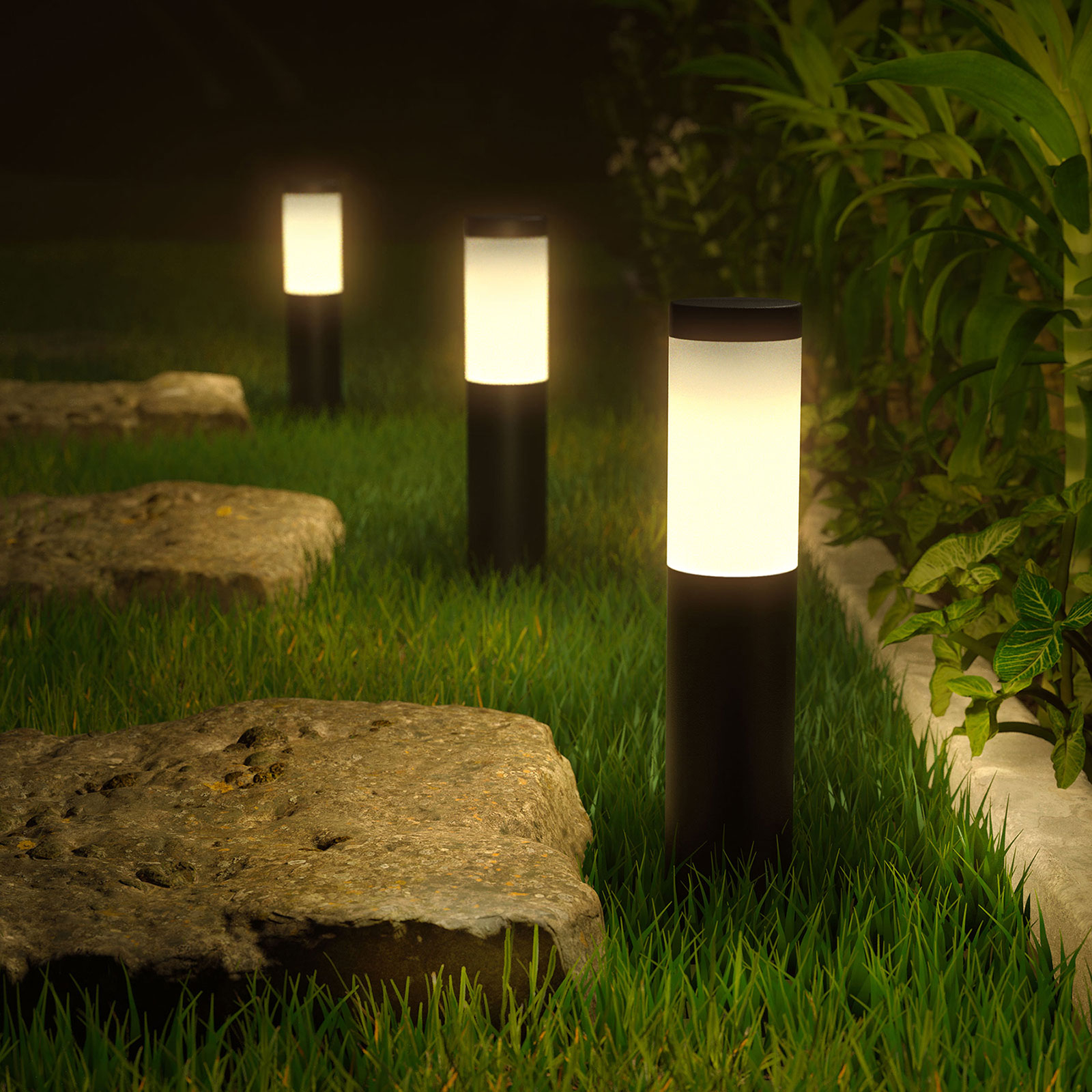 Innr LED-markspettslampa Smart Outdoor RGBW 3-pack