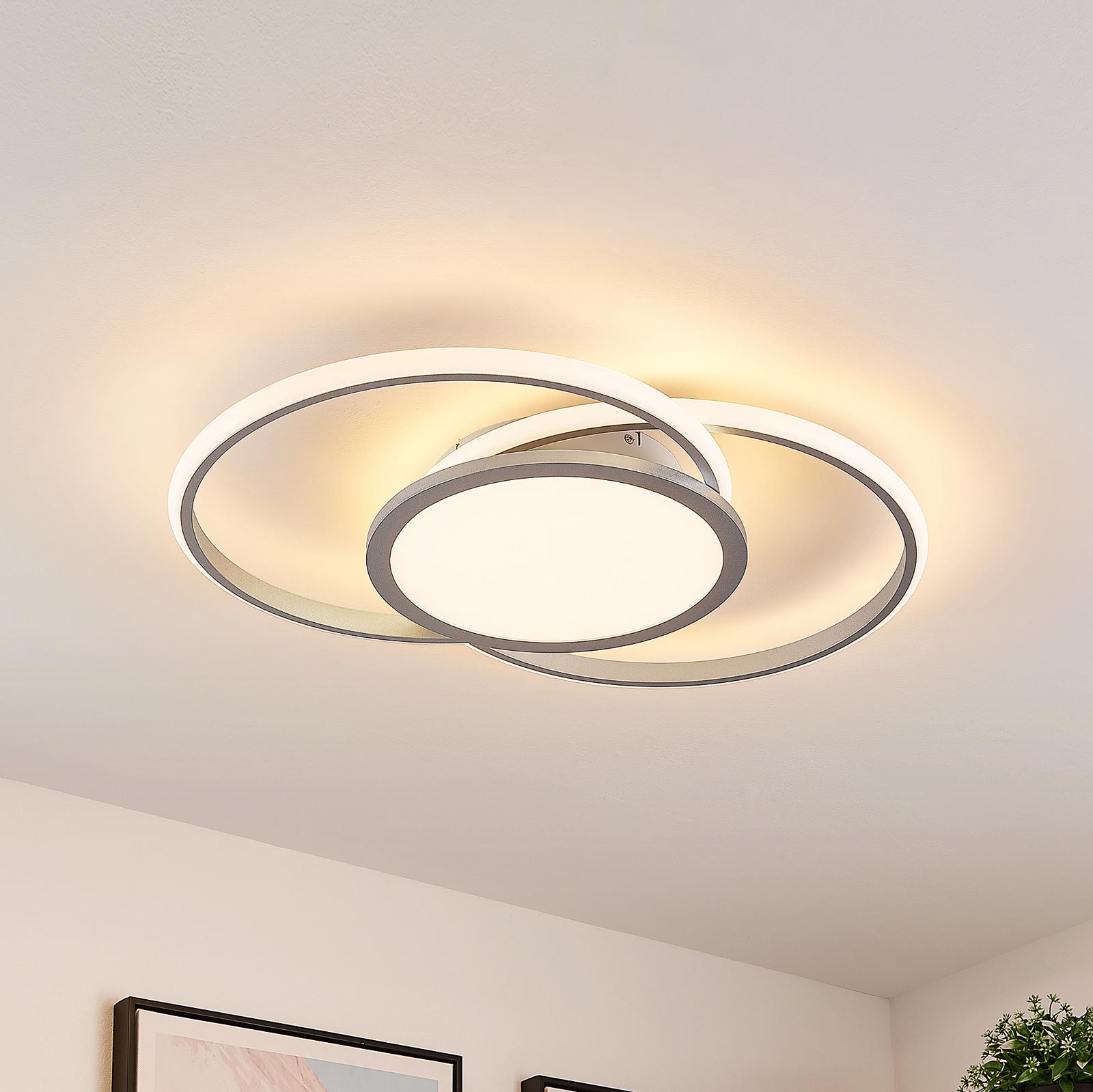 Lucande Senne LED-Deckenlampe, Ringe