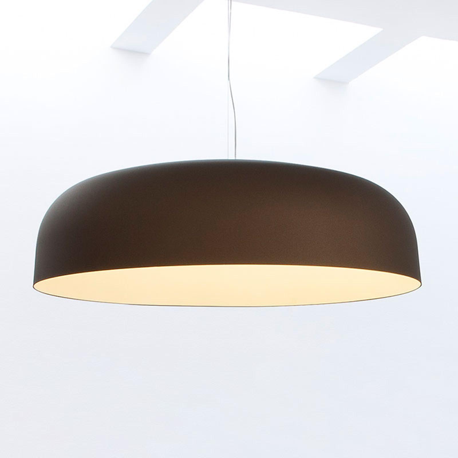 Oluce Canopy - lampa wisząca, 90 cm, brązowo-biała