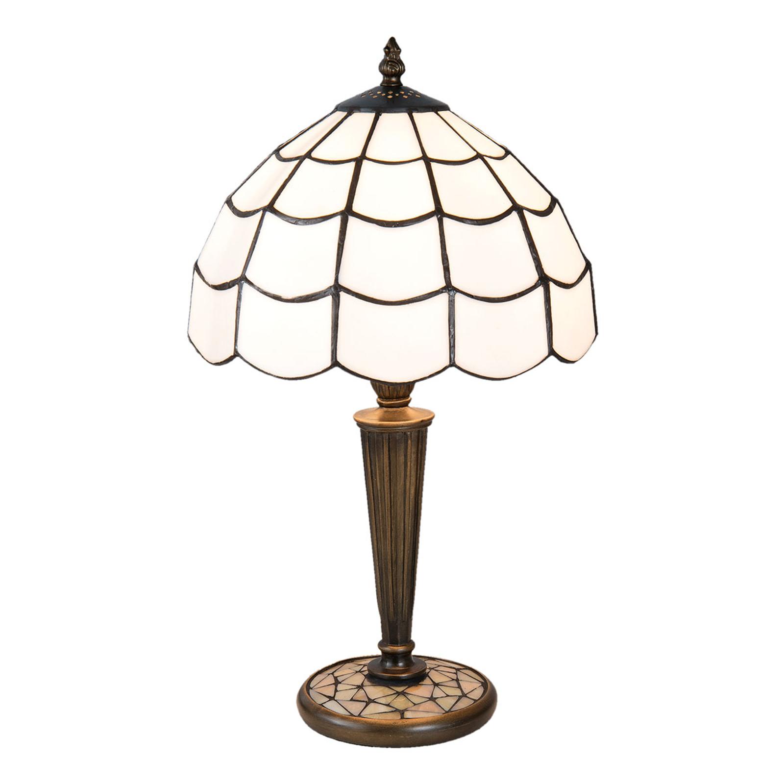 Bordlampe Wiebke i tiffanystil