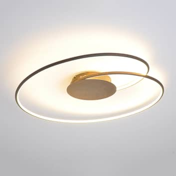 Ravissant plafonnier LED Joline en brun rouille