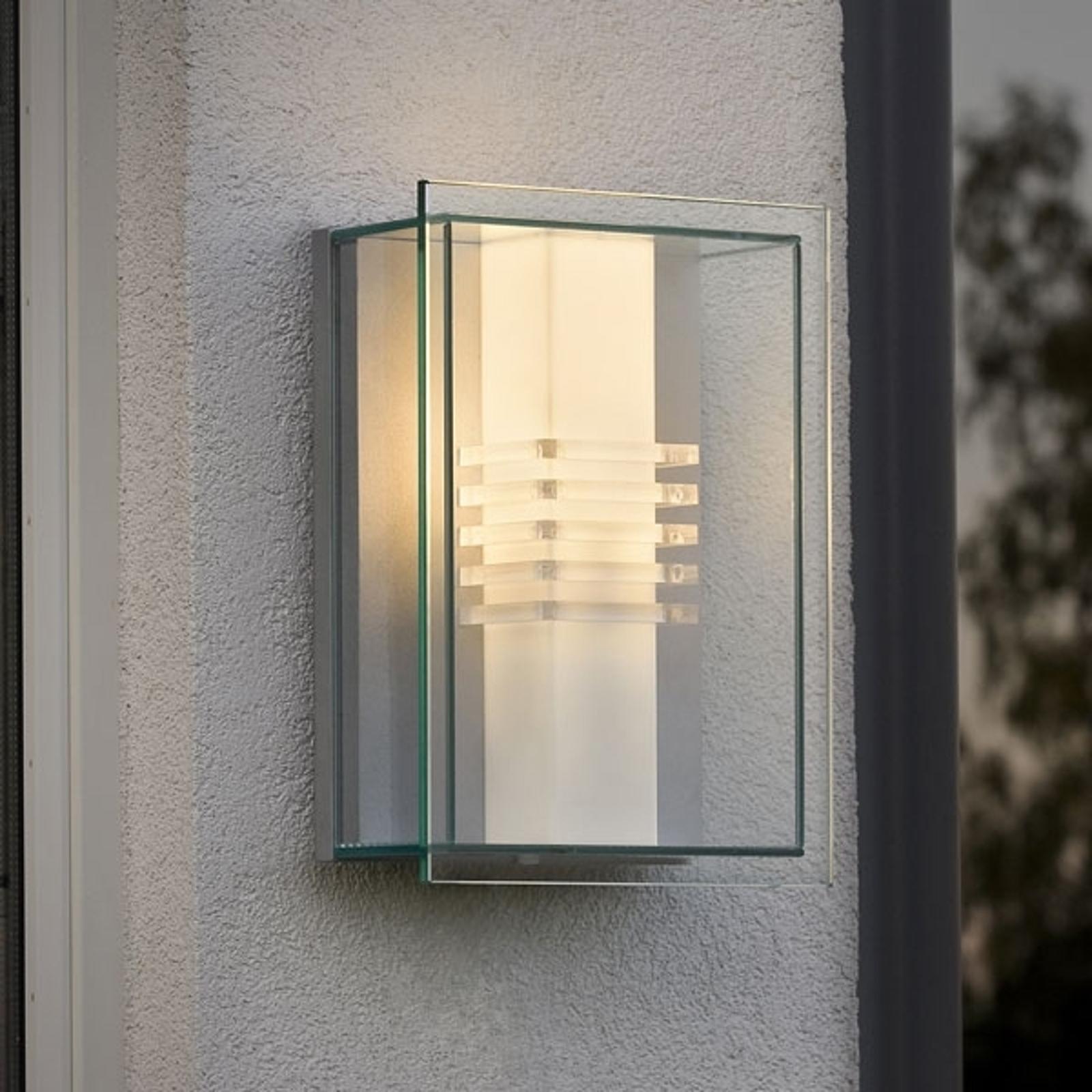 Buitenwandlamp SOL met heldere lijnvoering