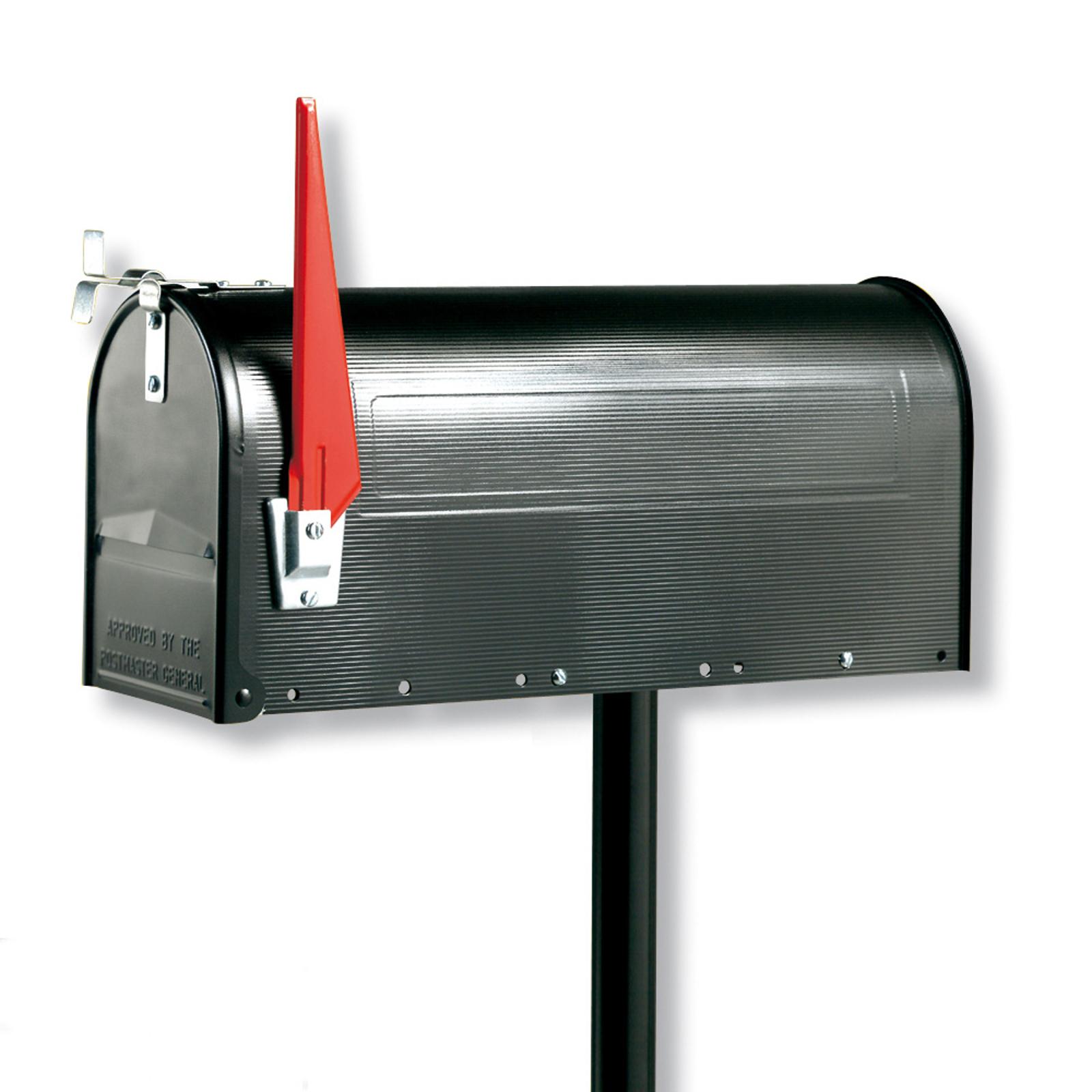 U.S. MAILBOX avec drapeau inclinable noire