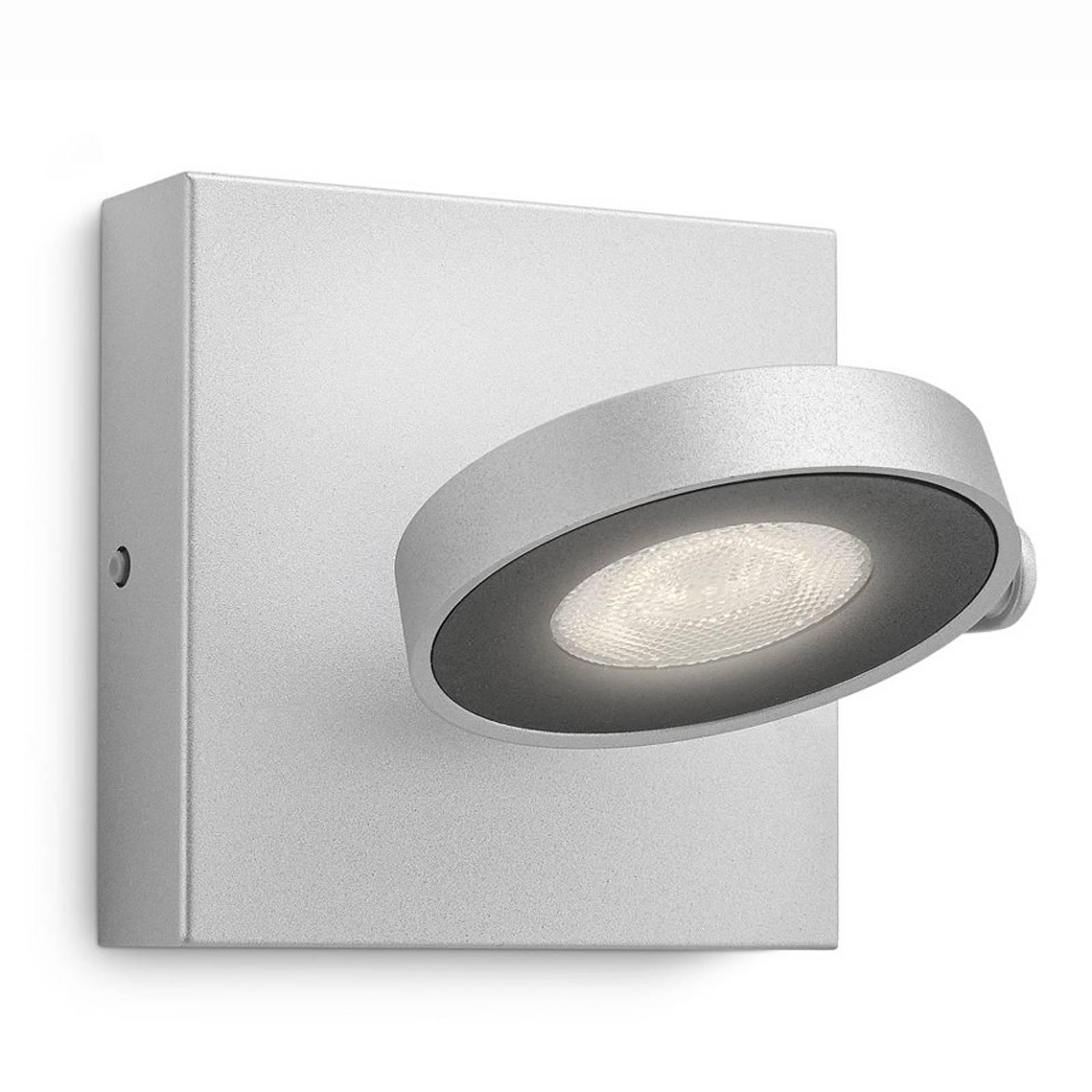 Philips Clockwork LED-Wandstrahler alu 1-flg.
