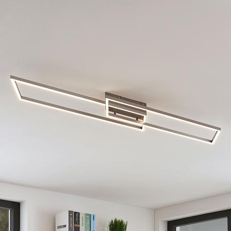 Lámpara LED de techo Quadra lineal, atenuable