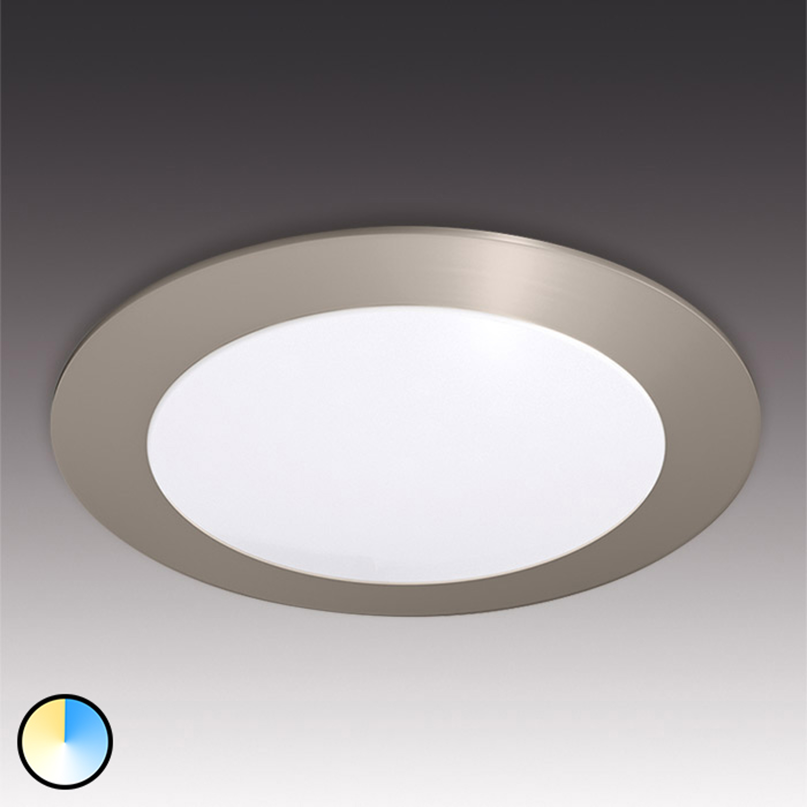 Rund infälld LED-inbyggnadslampa Dynamic FR 68