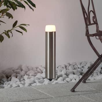 Lámpara solar Tanis acero inoxidable, LED y pica