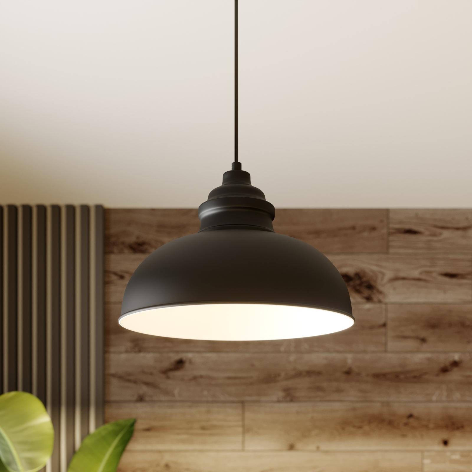 Lindby Cliona závěsné světlo černá matná