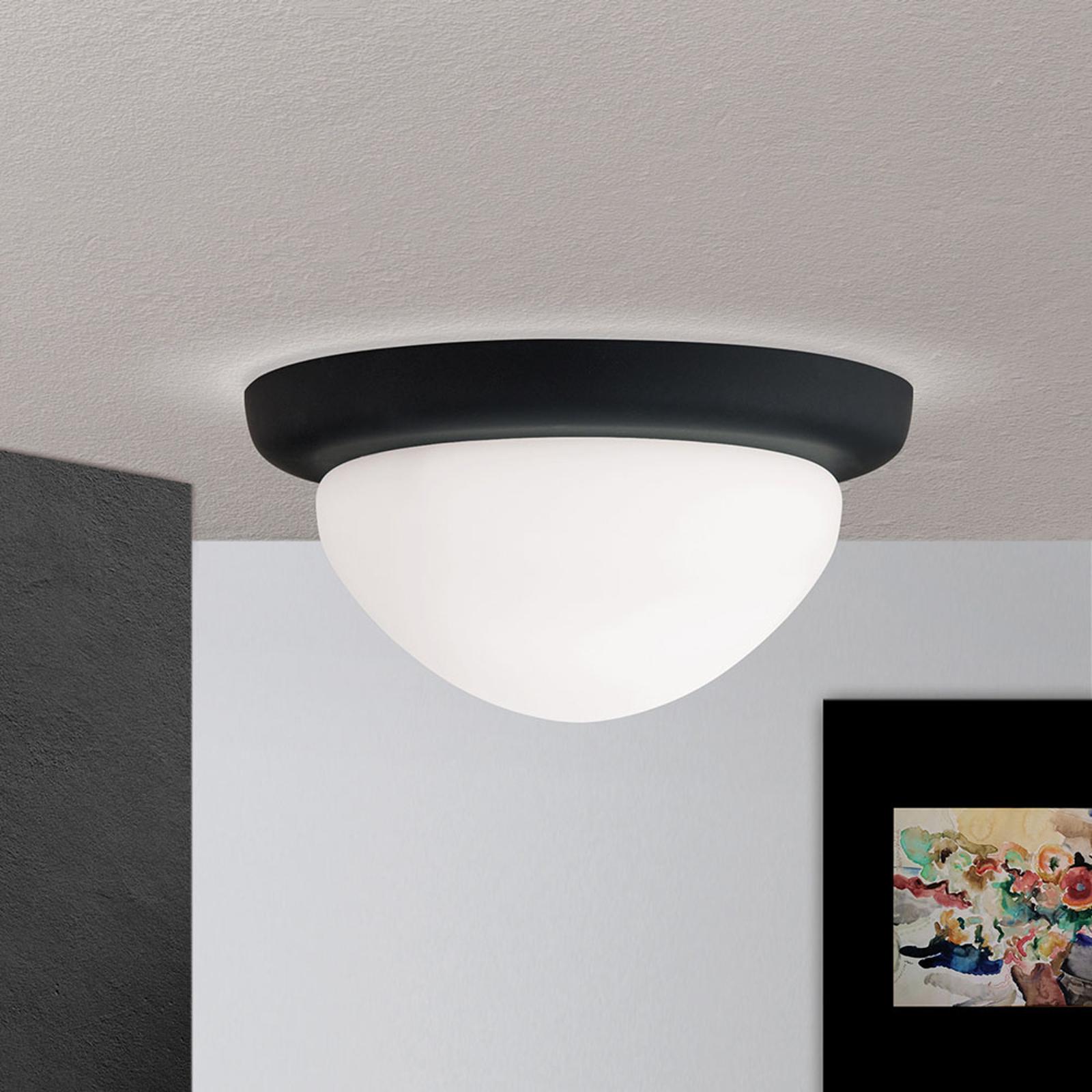 Taklampe Classico, svart/hvit, Ø 22 cm