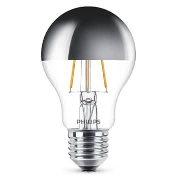 E27 A60 LED-pære med toppforspeiling 5,5W, 2700 K