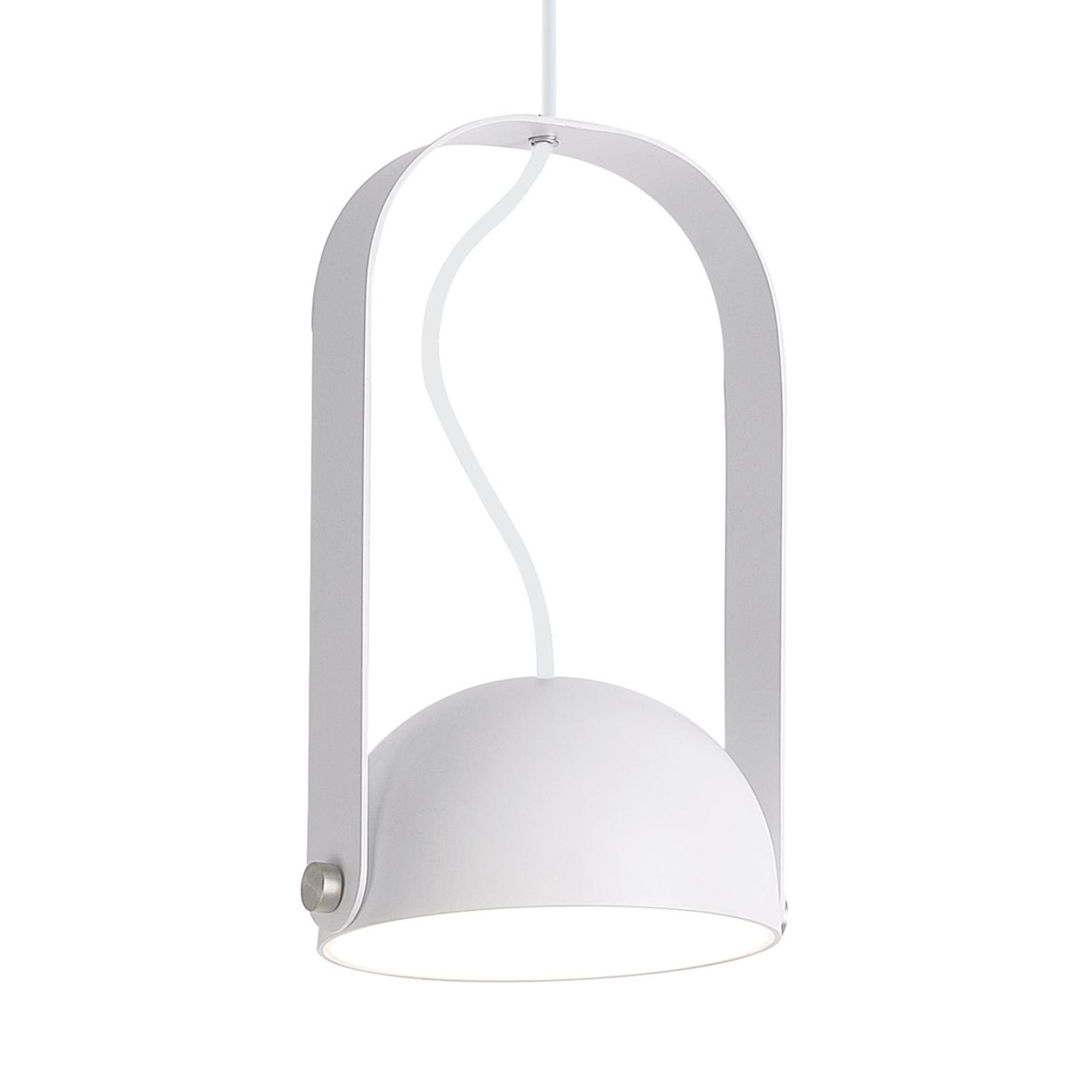 Lampa wisząca LED Hemi z wychylnym kloszem biała