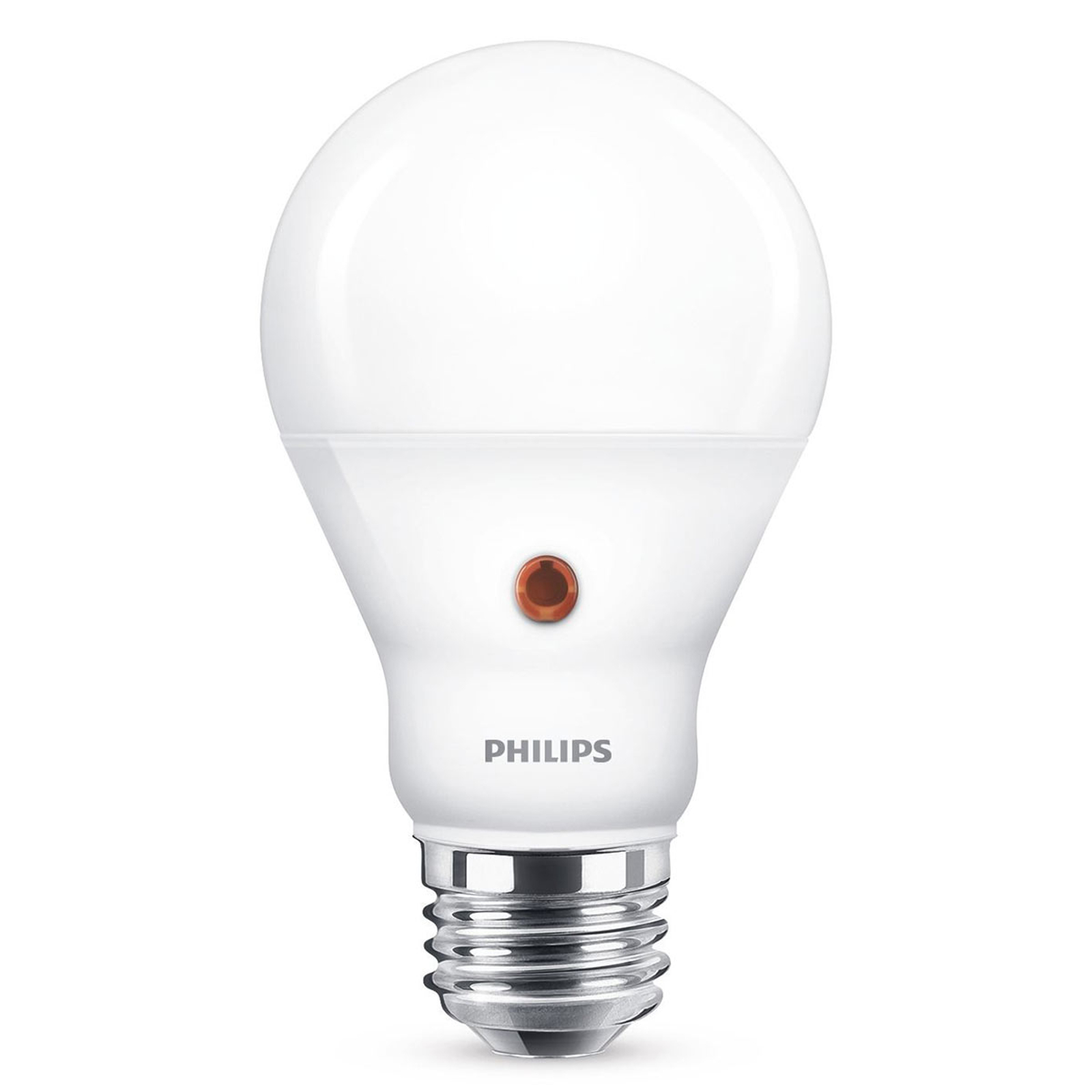 E27 A19 LED-lampa dag/natt-sensor 7,5 W, 2700 K