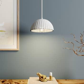 Lucande Herdis lámpara colgante de yeso, Ø 20 cm