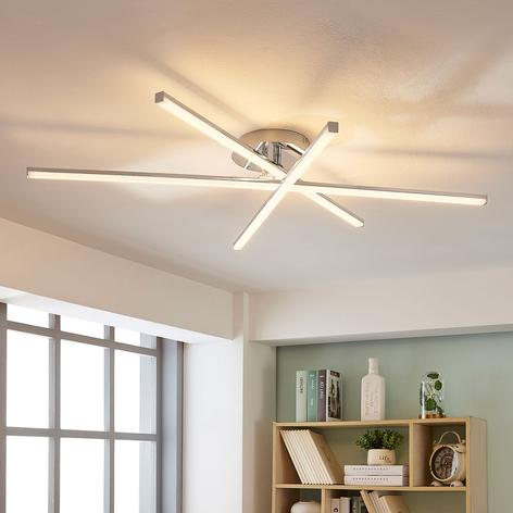 3-punktowa lampa sufitowa LED Korona, ściemniacz