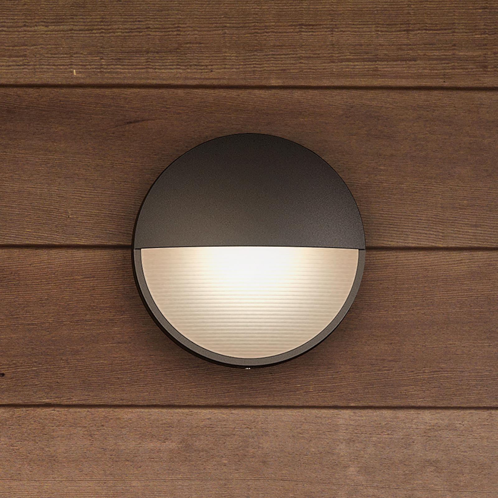 Capricorn - antrasittfarget LED-vegglys, IP44