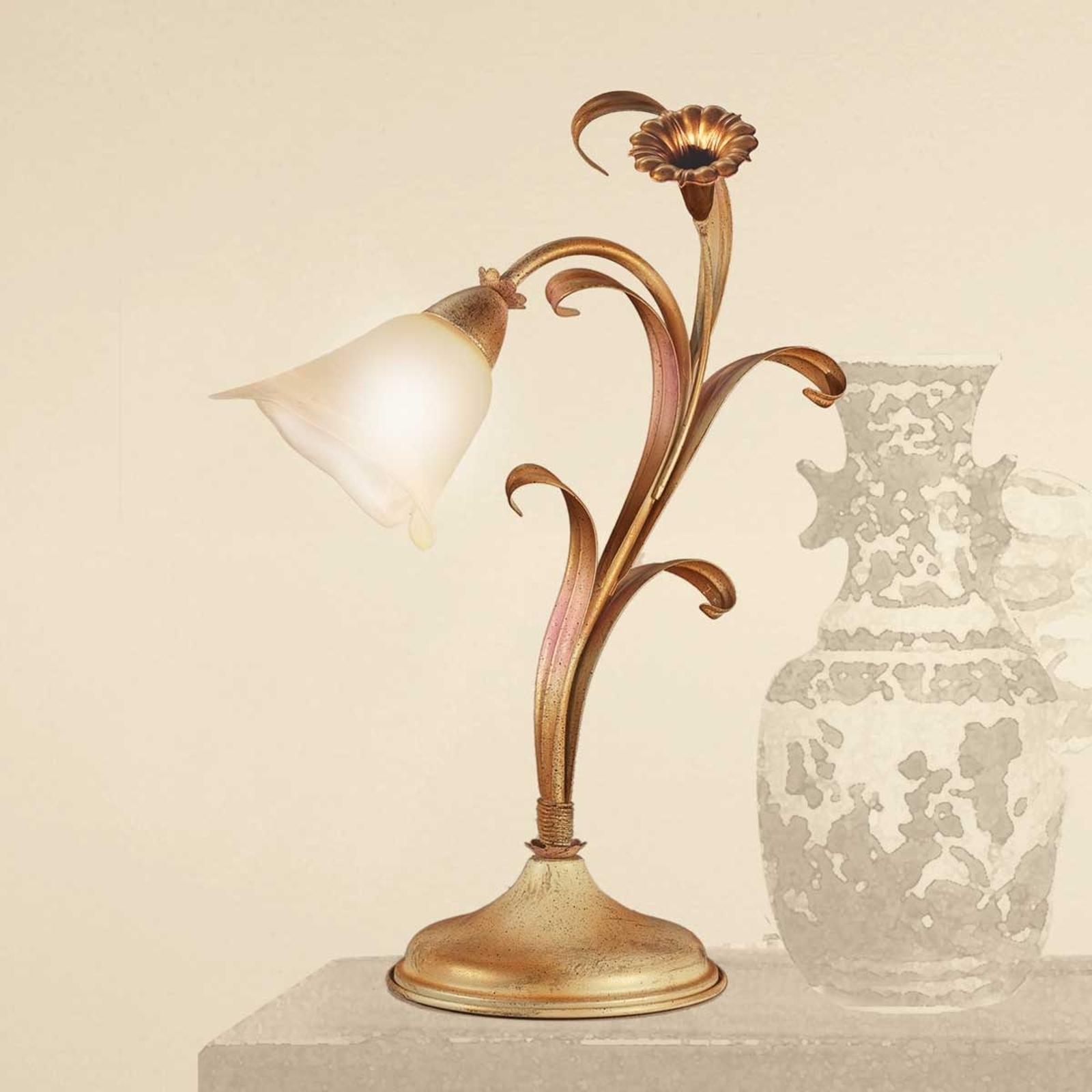 Lampada da tavolo Giovanni in stile fiorentino