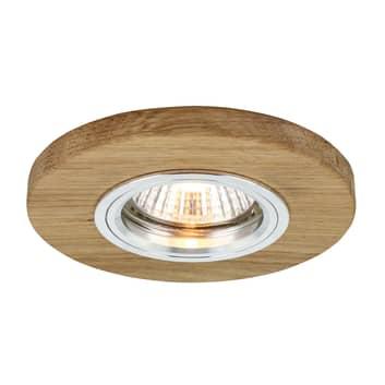 Sirion LED-indbygningsspot, Ø 10 cm, olieret eg