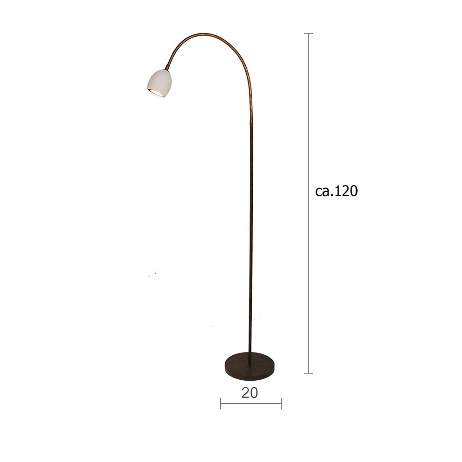 Menzel Provence mat vloerlamp 1-lamp flexibele arm