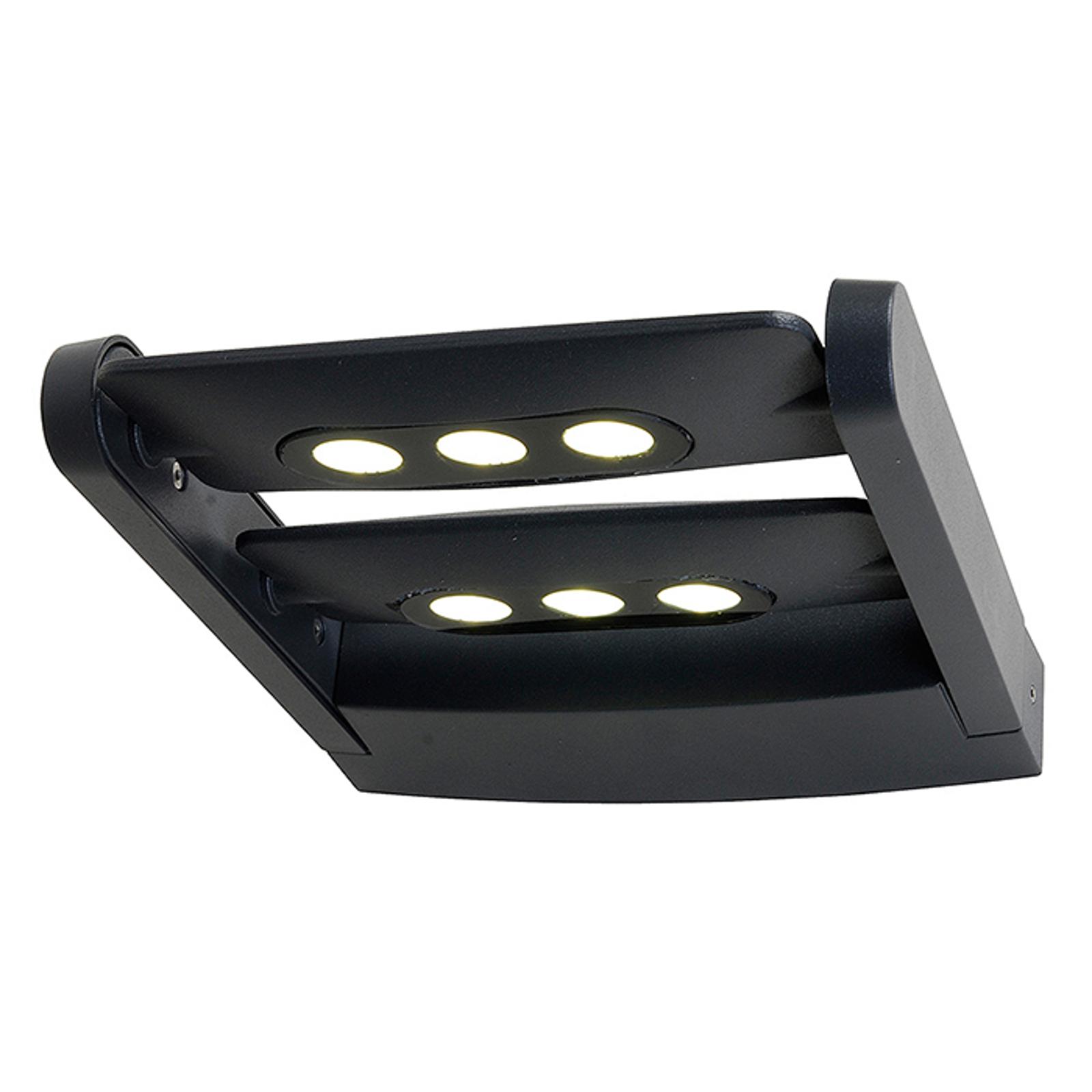 Udendørs vægspot Keiran Duo, m. 6 Power LED'er