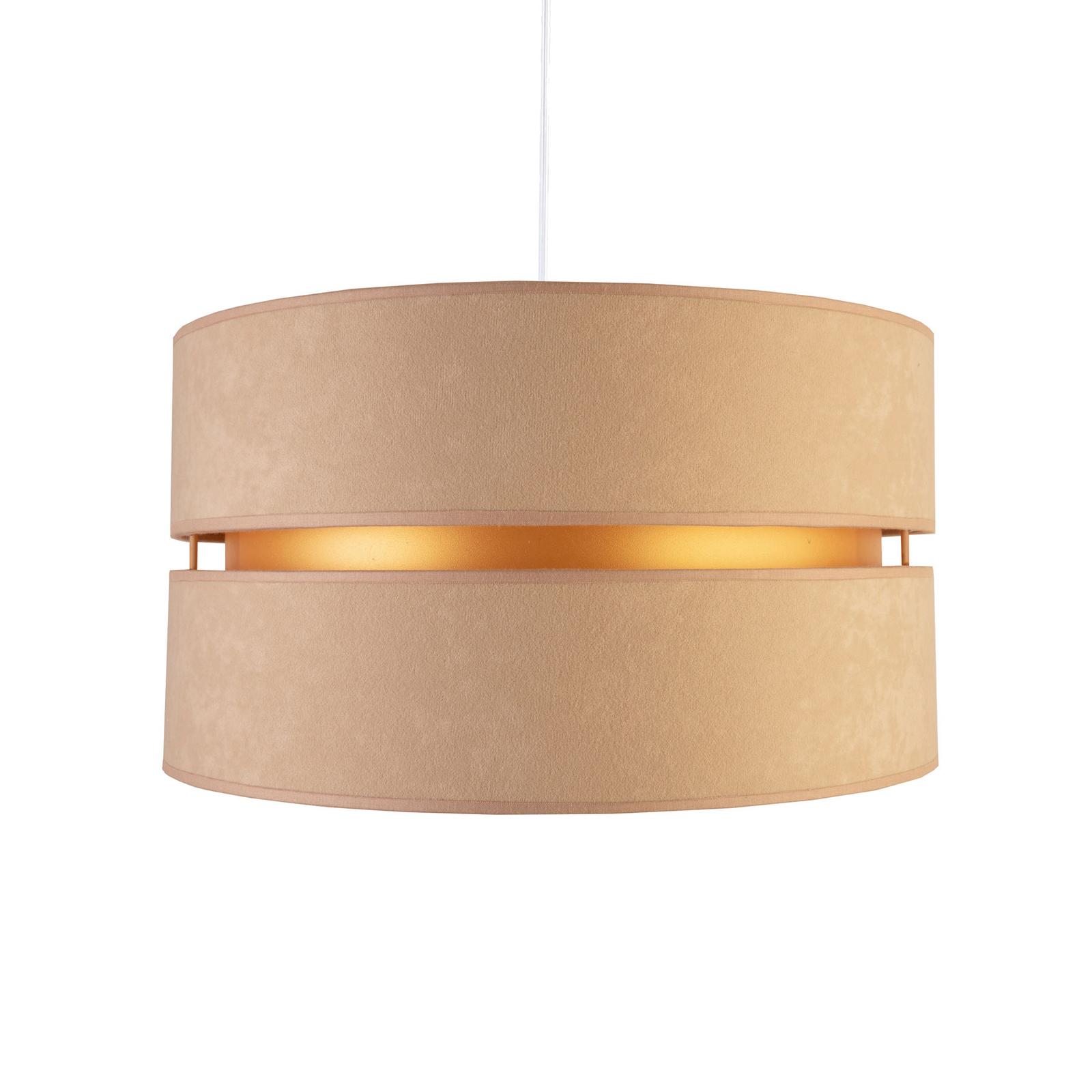 Lampa wisząca Duo, beżowa/złota