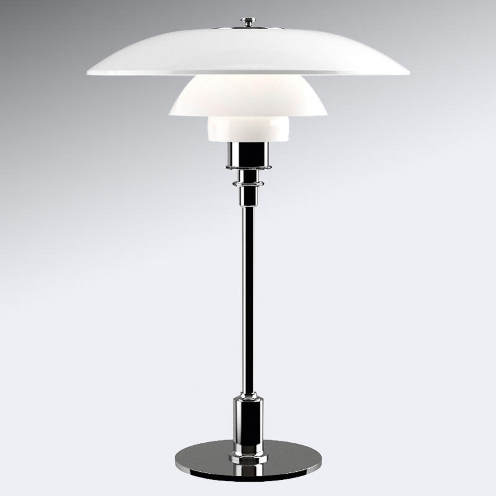 Tafellamp PH 3 1/2-2 1/2 - voet hooggl. verchroomd