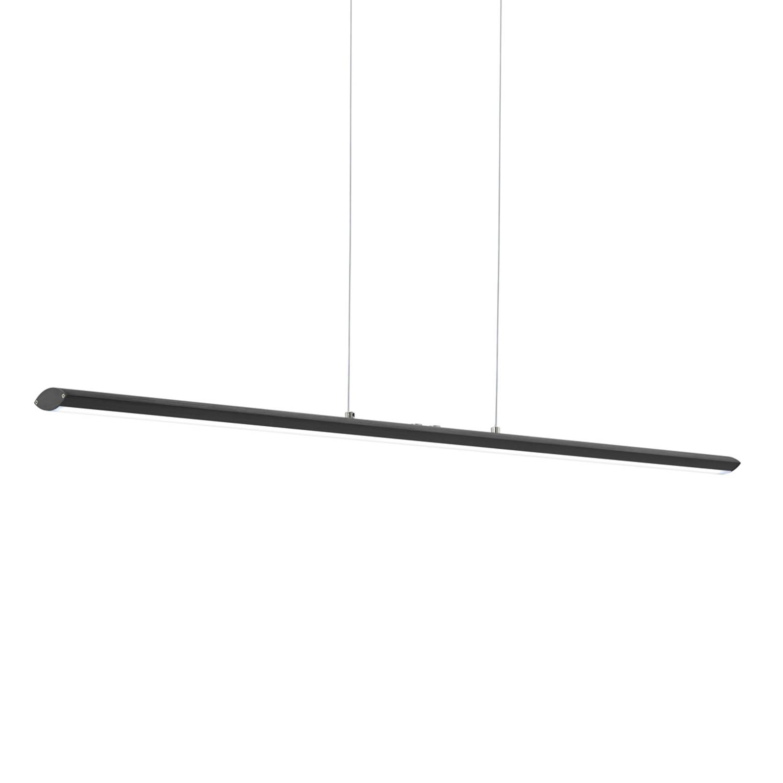 Schwarze LED-Hängeleuchte Pellaro, dimmbar