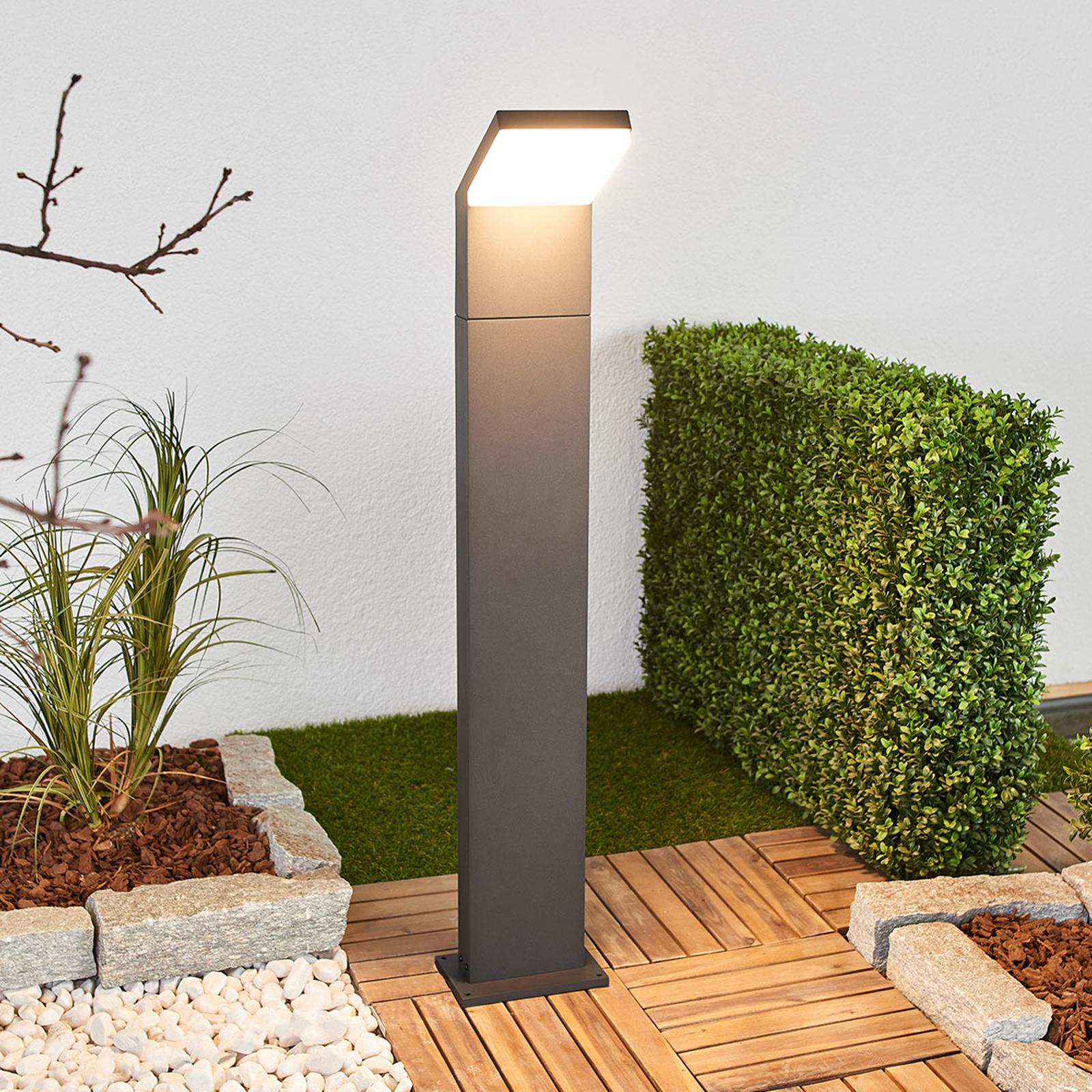 Yolena - grafitgrå LED-pollarelampa, 100 cm