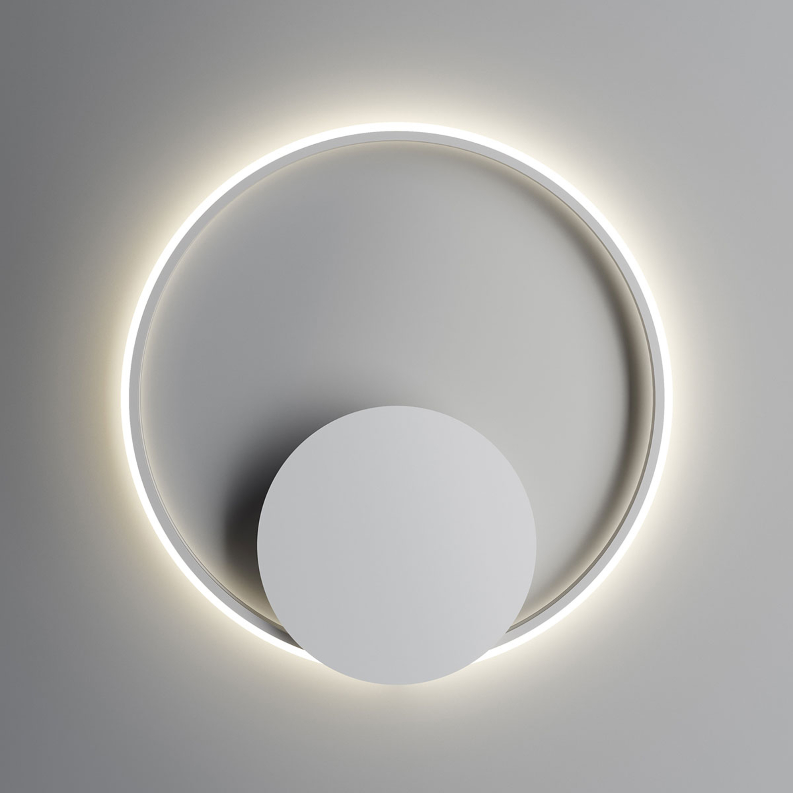Fabbian Olympic LED-Wandleuchte Ø 60 cm weiß