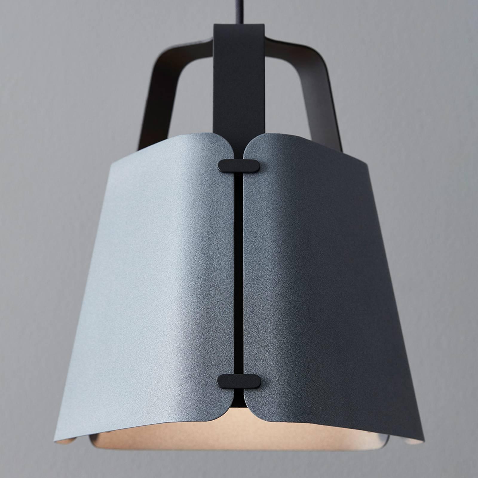 Lampa wisząca Fold, struktura betonu, 33,3 cm