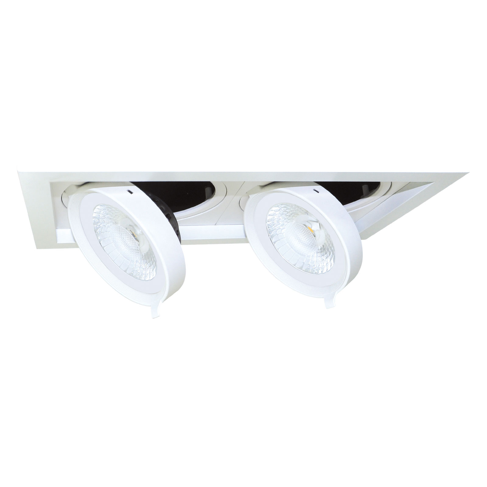 LED-downlight Quado1, 2 lyskilder, dimbar