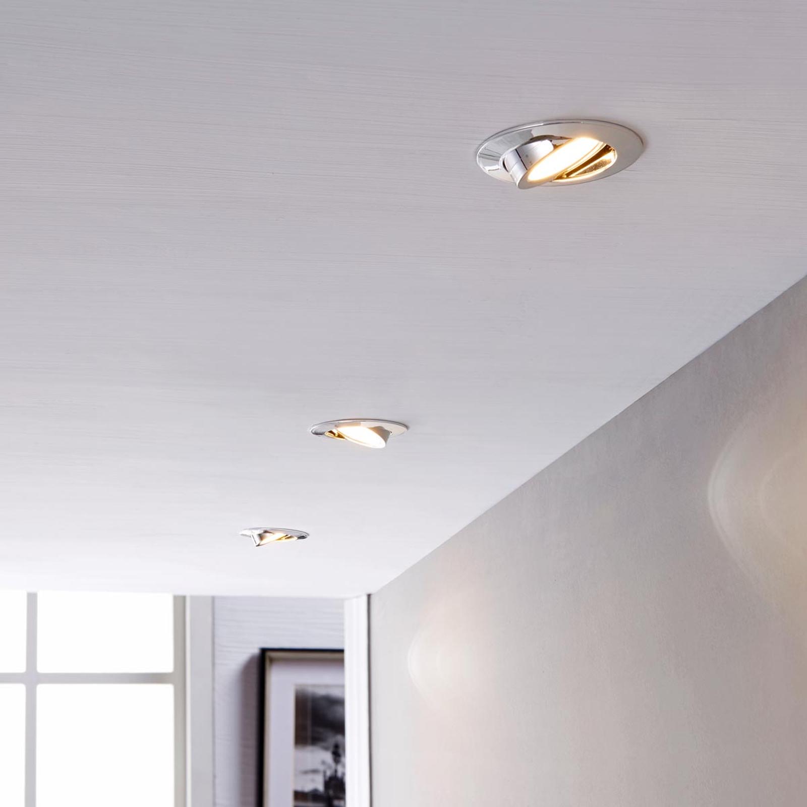 LED-Einbaustrahler Andrej, rund, chrom, 3er-Set