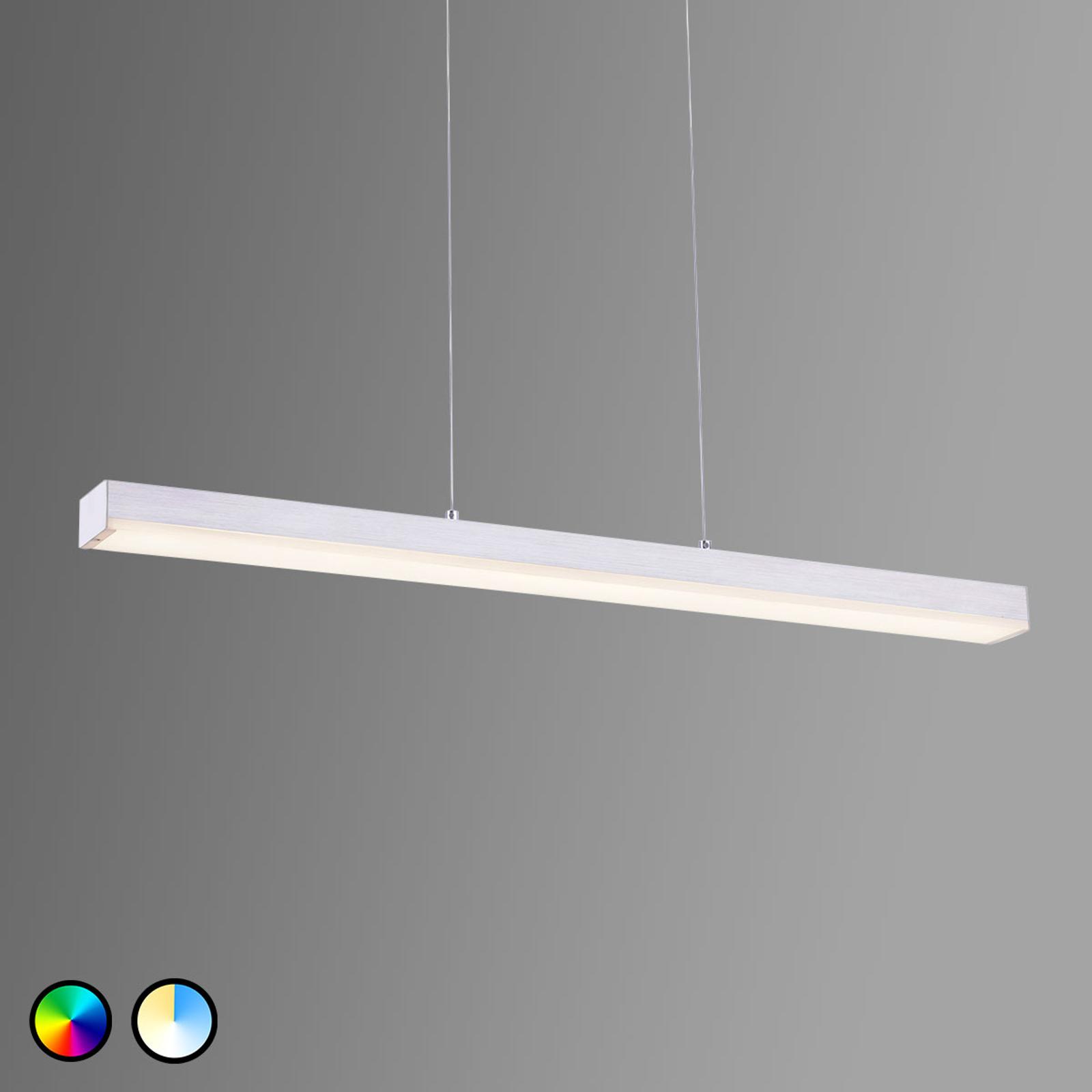 Trio WiZ Livaro LED-Pendelleuchte nickel matt
