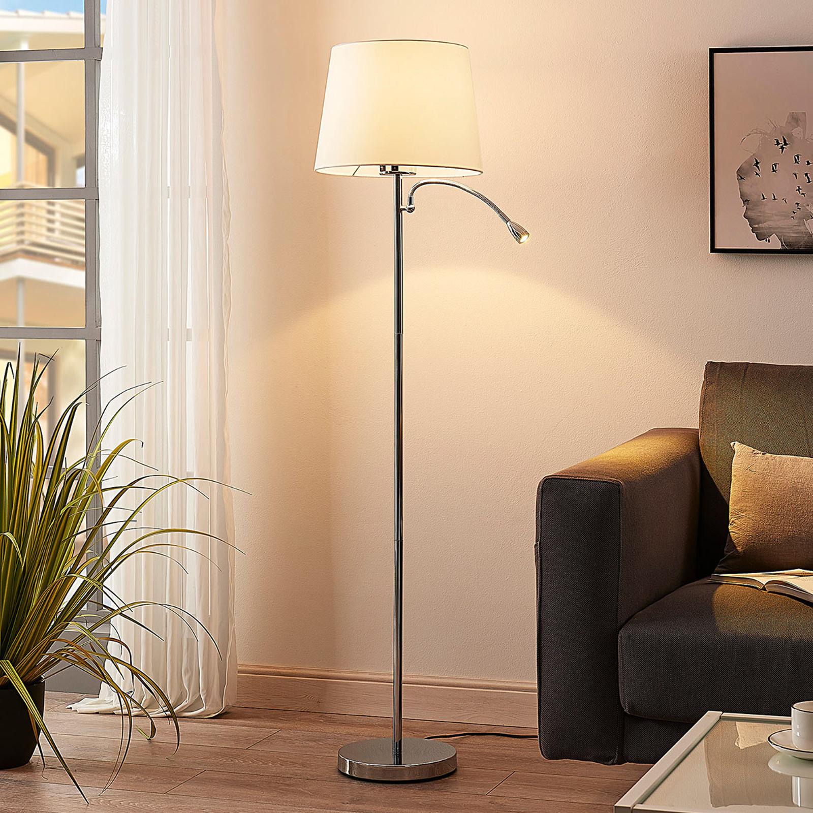 Benjiro – lampa stojąca z lampką LED do czytania